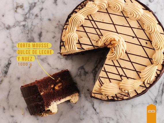 Torta Mousse Dulce de Leche y Nuez